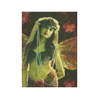 Vintage Nymph Wrapped Canvas Print