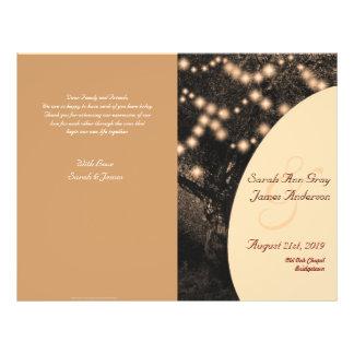 Vintage Oak Tree celebration wedding program 21.5 Cm X 28 Cm Flyer