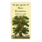Vintage Oak Tree Custom Bookplate Label