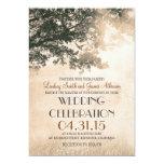 Vintage oak tree & love birds wedding invites 13 cm x 18 cm invitation card