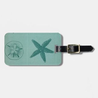 Vintage Ocean Theme Collage Luggage Tag