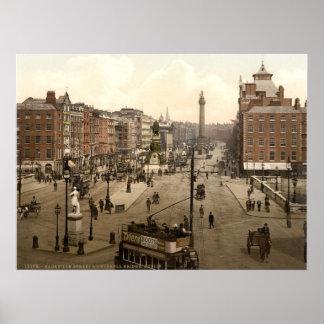 Vintage O'Connell Street Dublin Ireland Poster