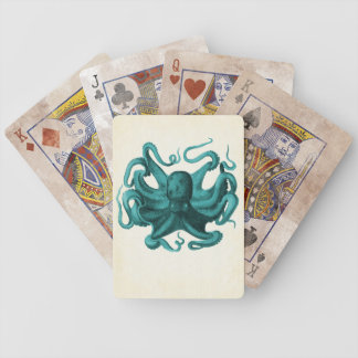 Vintage Octopus Bicycle Playing Cards