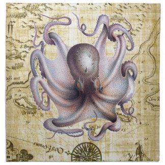 Vintage octopus napkin