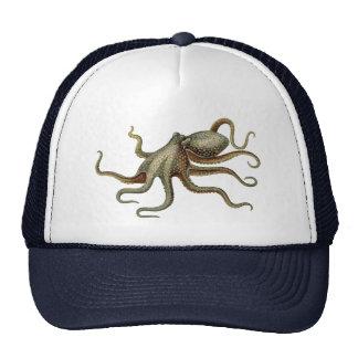 Vintage Octopus Nautical Sea Creature Cap
