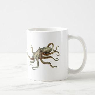 Vintage Octopus Nautical Sea Creature Coffee Mug