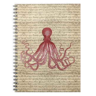 Vintage octopus notebook