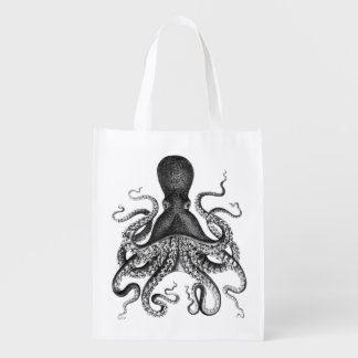 Vintage Octopus Reusable Grocery Bag
