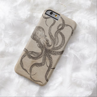 Vintage Octopus Sea Creatures Ocean Animal Mollusk Barely There iPhone 6 Case