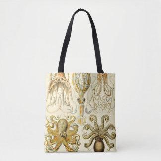 Vintage Octopus Squid Gamochonia by Ernst Haeckel Tote Bag