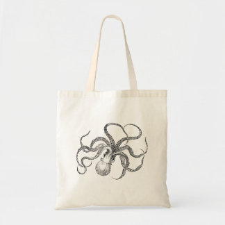 Vintage Octopus Template Budget Tote Bag