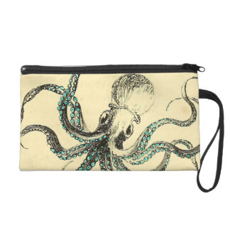 Vintage Octopus Wristlet