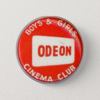 Vintage Odeon Cinema Boys and Girls Club 6 Cm Round Badge