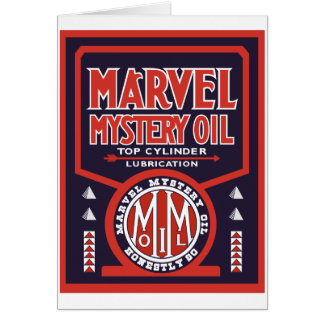 Vintage Oil sign reproduction Card