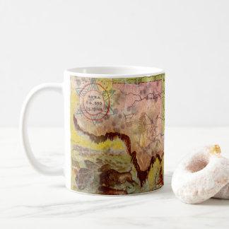 Vintage Oklahoma Pictorial Indian Territory Map Coffee Mug