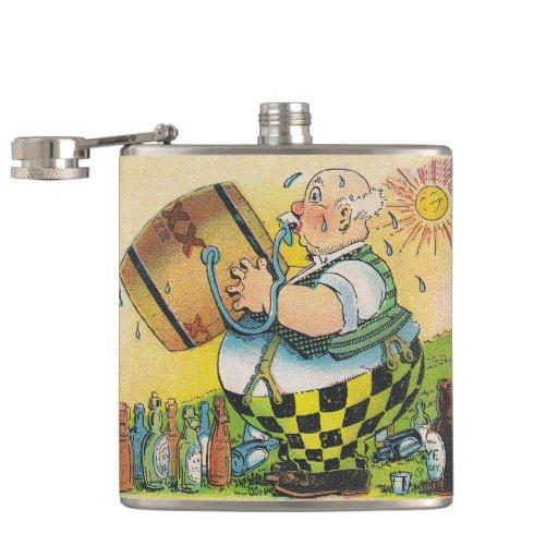 Vintage Oktoberfest Fun Keg Tap Party Beer Flask