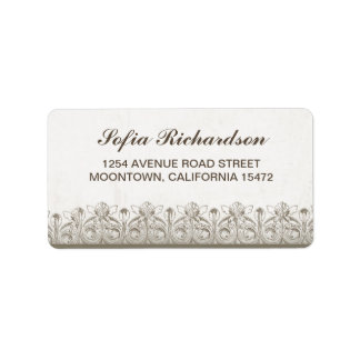 vintage old address labels