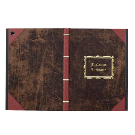Old Book Ipad Air Cover : Vintage old book leather look personalised case for ipad