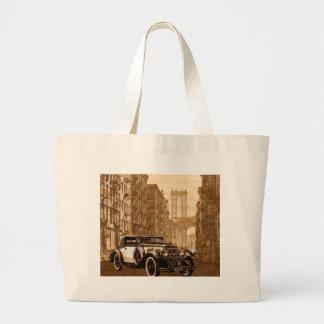 Vintage Old car Large Tote Bag