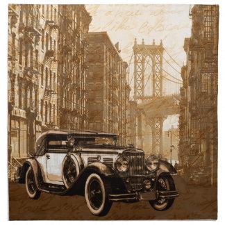 Vintage Old car Napkin