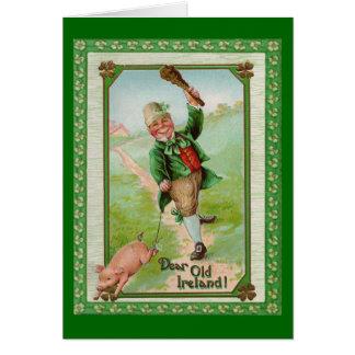 Vintage Old Dear Ireland Card Greeting Card