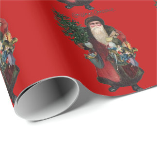 Vintage Old Fashioned Santa Claus Choose Color Wrapping Paper