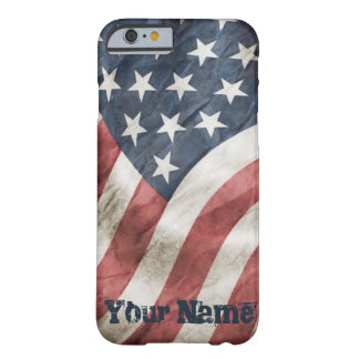 Vintage Old Glory Retro US Flag Personalized Barely There iPhone 6 Case