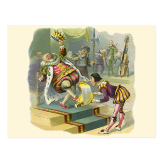 Vintage Old King Cole Nursery Rhyme Fairy Tale Post Card