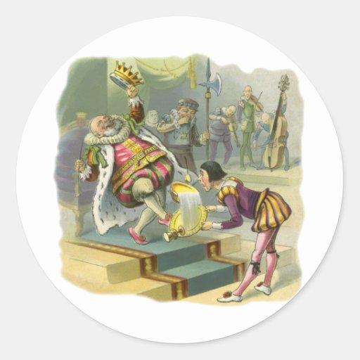 Vintage Old King Cole Nursery Rhyme Fairy Tale Stickers