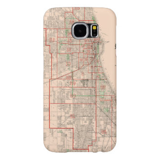 Vintage Old Map of Chicago - 1893 Samsung Galaxy S6 Cases
