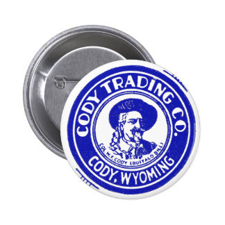 Vintage Old Matchbook Cody Trading Company 6 Cm Round Badge