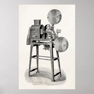 Vintage Old Movie Camera Cinematography Equipment Poster