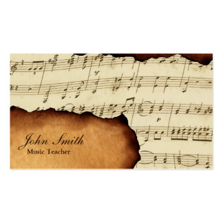 Vintage Old Music Sheet Music Business Cards