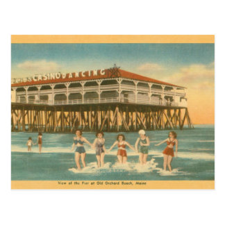 Vintage Old Orchard Beach Main Post Card