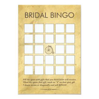 Vintage Old Paper Bridal Shower Bingo Cards 9 Cm X 13 Cm Invitation Card