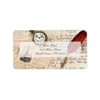 how to write a return address on a postcard