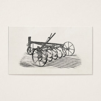 Vintage Old Plows Farm Equipment Agriculture Plow Business Card