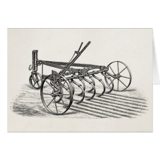 Vintage Old Plows Farm Equipment Agriculture Plow Card