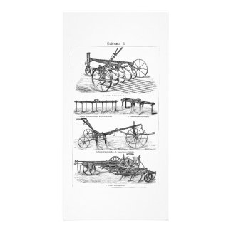 Vintage Old Plows Farm Equipment Agriculture Plow Photo Card