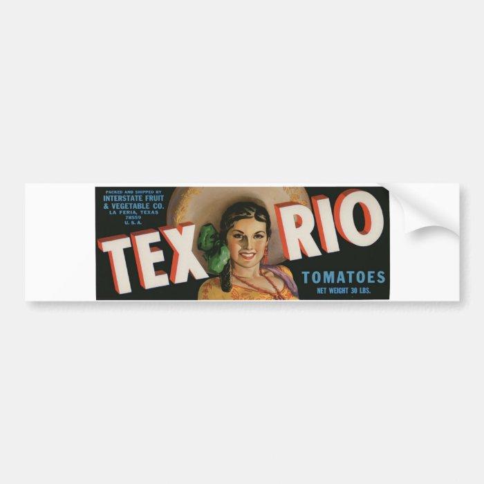 Vintage Old Retro Crate Product Goods Label Veggie Bumper Sticker