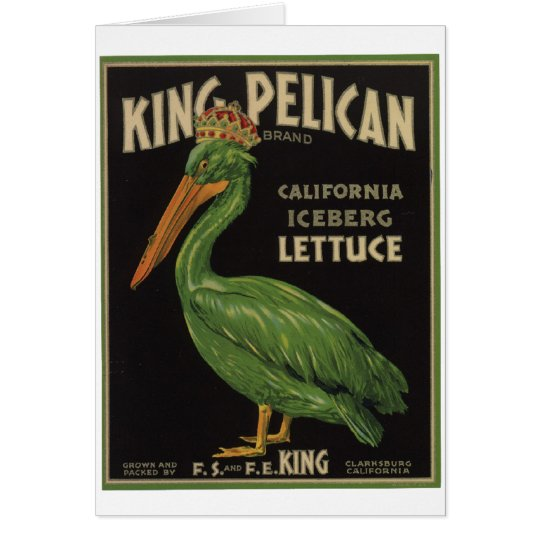 Vintage Old Retro Crate Product Goods Label Veggie Greeting Card
