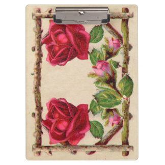 Vintage Old Rose Rustic Victorian Antique Clipboards