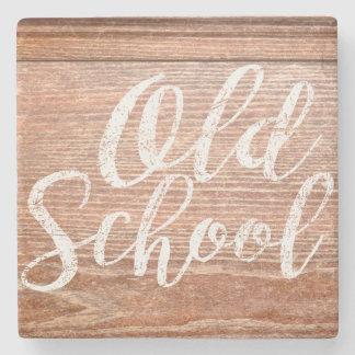 Vintage Old School Desk Top Stone Coaster