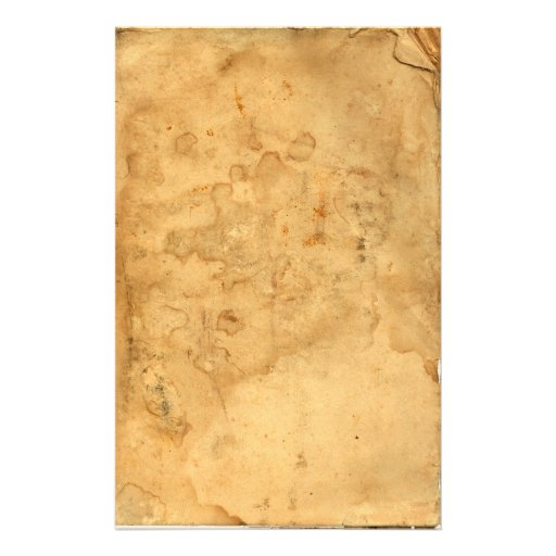 Vintage Old Tea Stained Stationary Stationery
