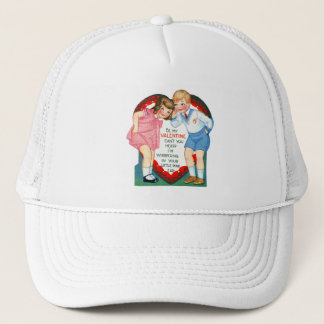 Vintage Old Valentine Can't You Hear? Trucker Hat