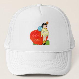 Vintage Old Valentine Chubby Little Girl Trucker Hat