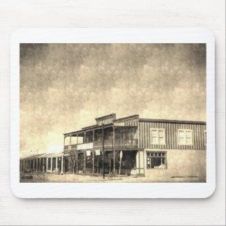 Vintage Old West Building Mouse Pad
