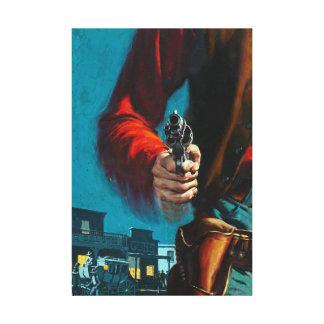 Vintage Old West Gunslinger Cowboy Canvas Print