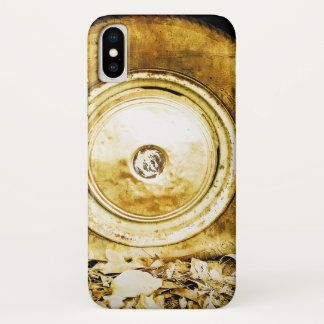 Vintage Old Wheel Of Classic Car iPhone X Case