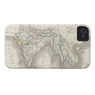 Vintage old world India Indian map print iPhone 4 iPhone 4 Covers